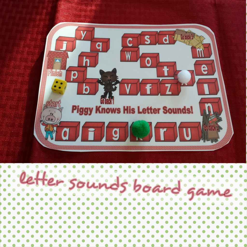 Three Little Pig Board GAme Letter Sounds
