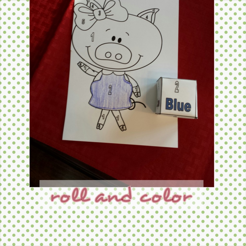 Three Little Pigs Color by code