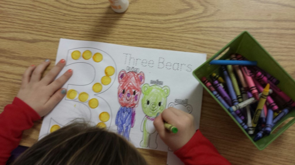 Three Bears Activity Sheet