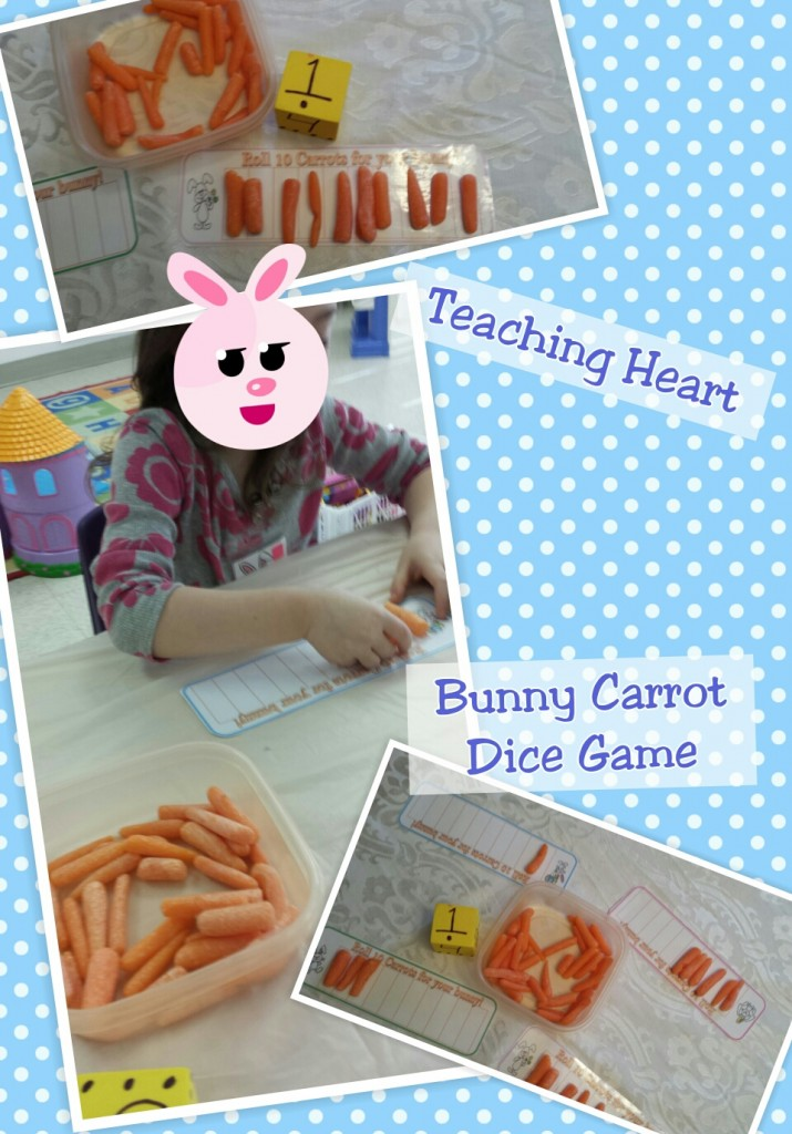 Bunny Carrot Dice Game - Groups of 10 ten.