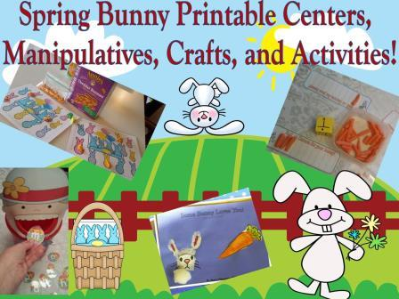 Bunny Math and Reading Theme For Preschool and Kindergarten!