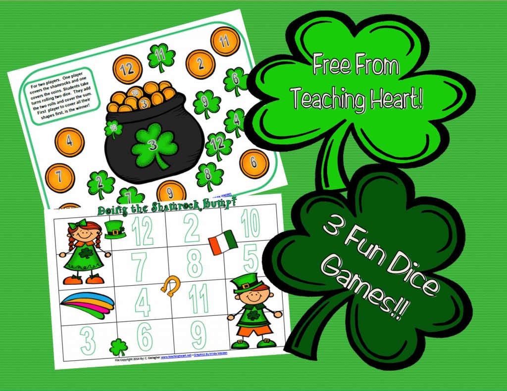 St. Patrick's Day Dice Game Printables Free