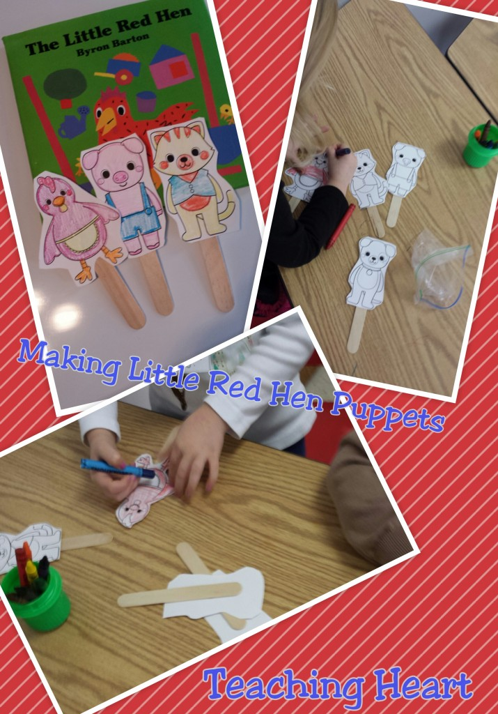 The Little Red Hen stick puppets patterns