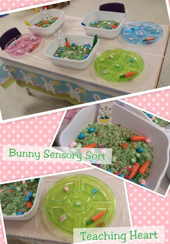 Bunny Sensory Table - Sorting