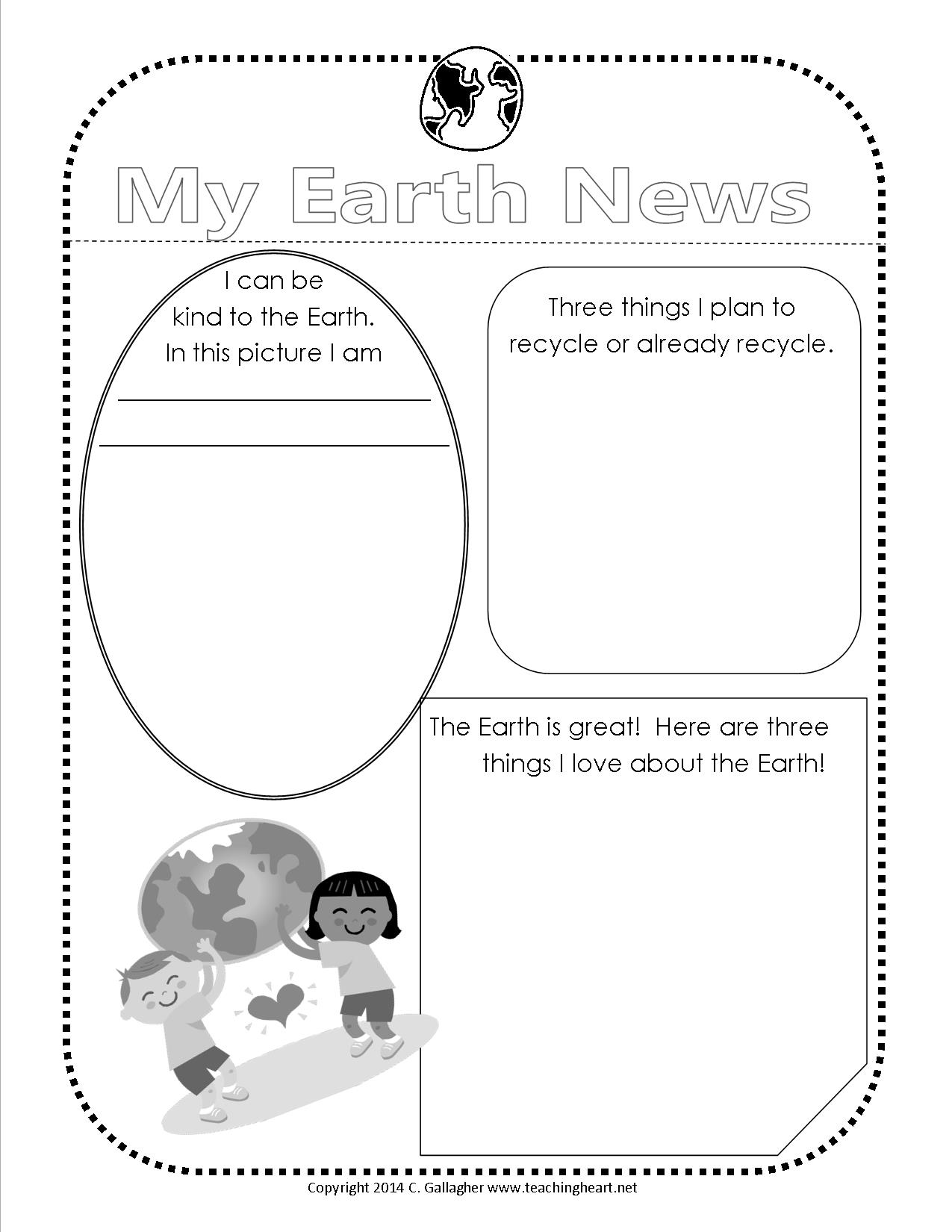 earth day 2014 free printable teaching heart blog. Black Bedroom Furniture Sets. Home Design Ideas