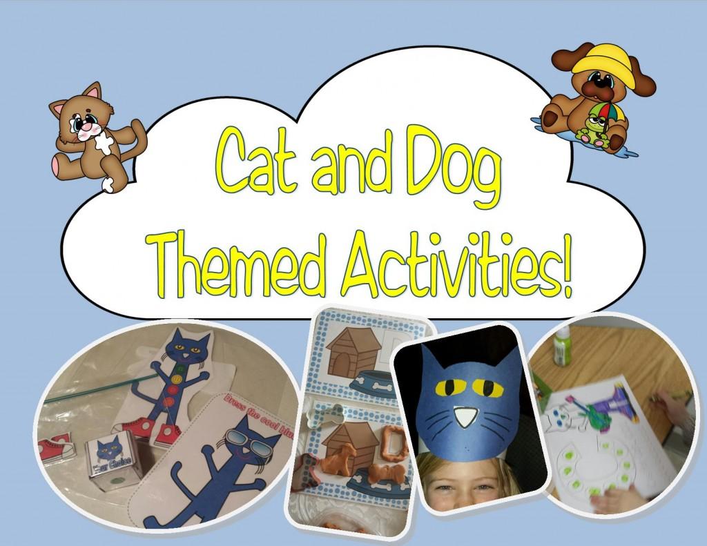 cat and dog themed activities for Preschool and Kindergarten!