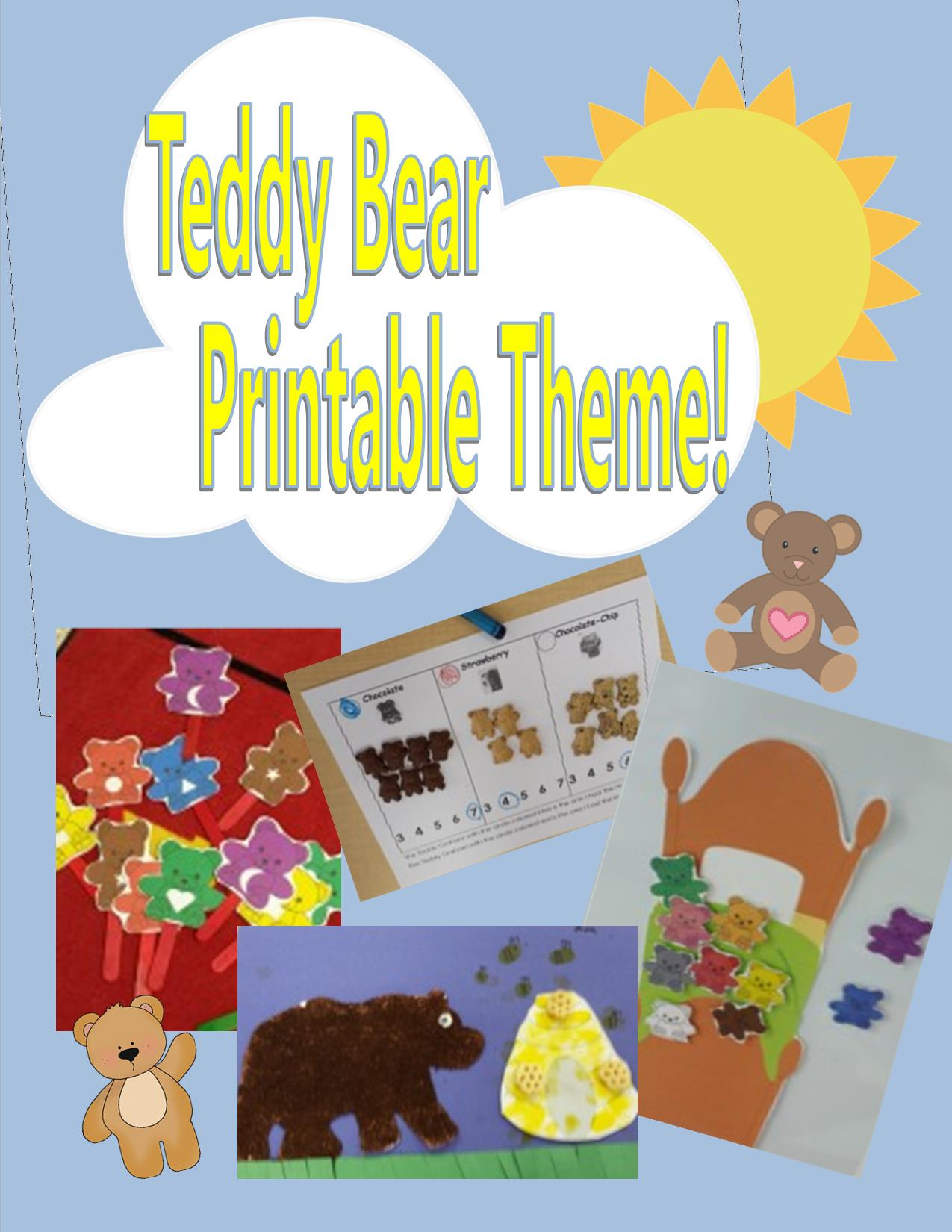 Teddy Bear Packet For A Preschool Or Kindergarten Math Reading Lesson Centers And