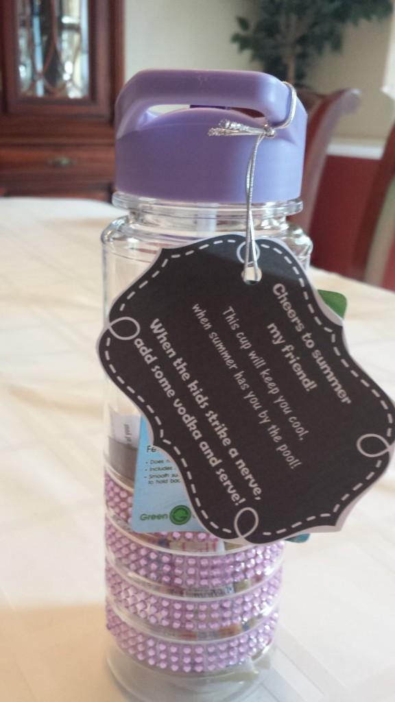 DIY Water Bottle Vodka Gift Tag