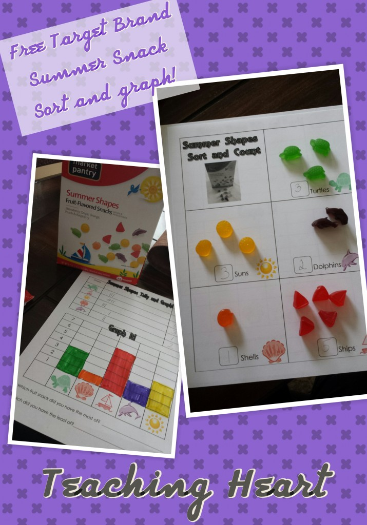 Summer Fruit Snacks Graph, Tally, Sort Free Printable