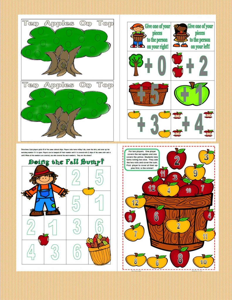 Fall Centers for First Grade