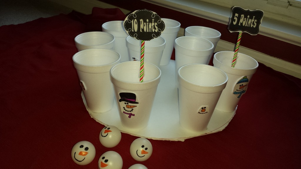 Snowman Toss Game for Holiday Party