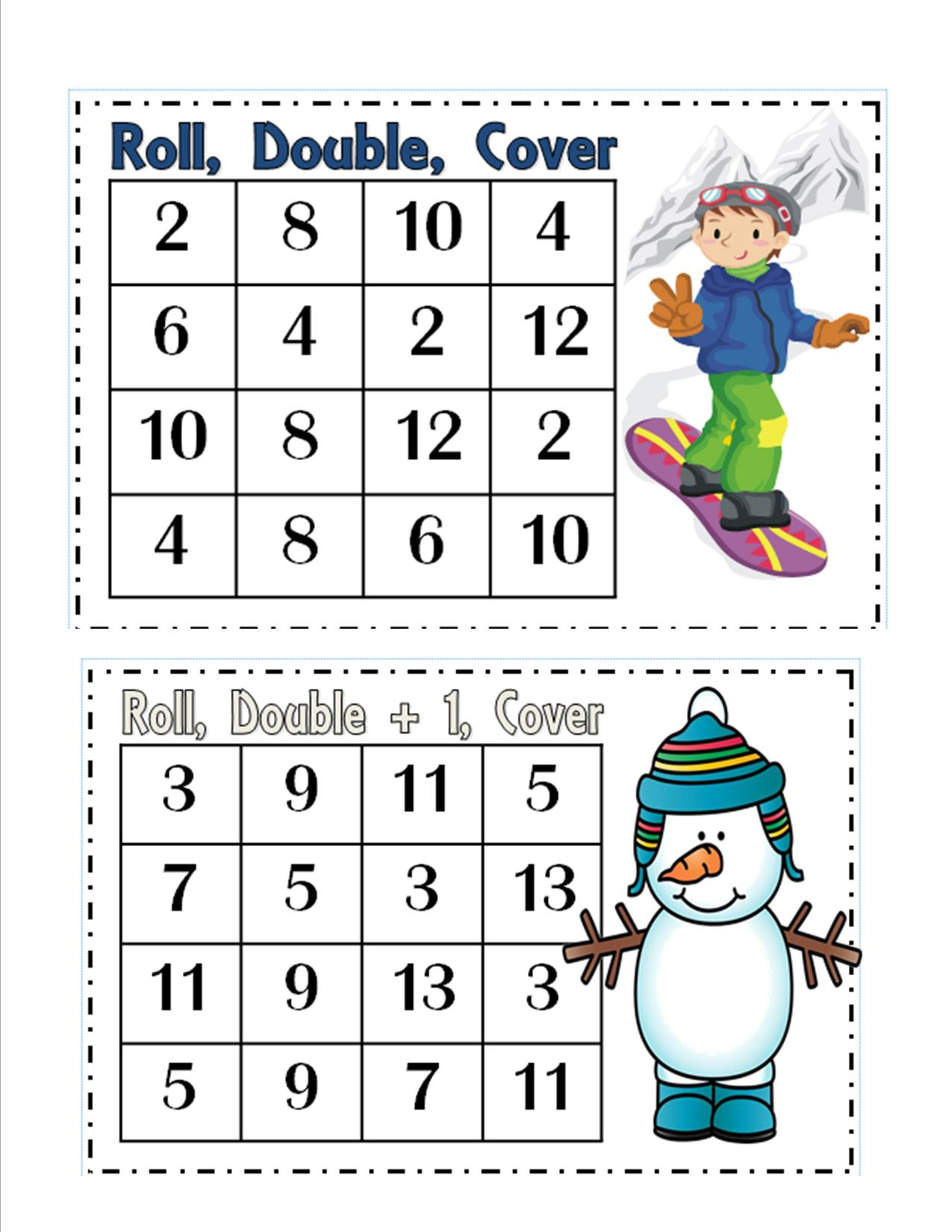 doubles plus one worksheets