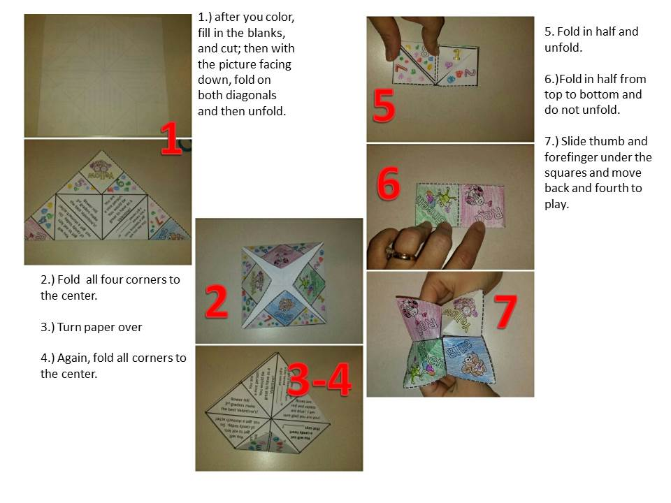 How to fold a cootie catcher or fortune teller