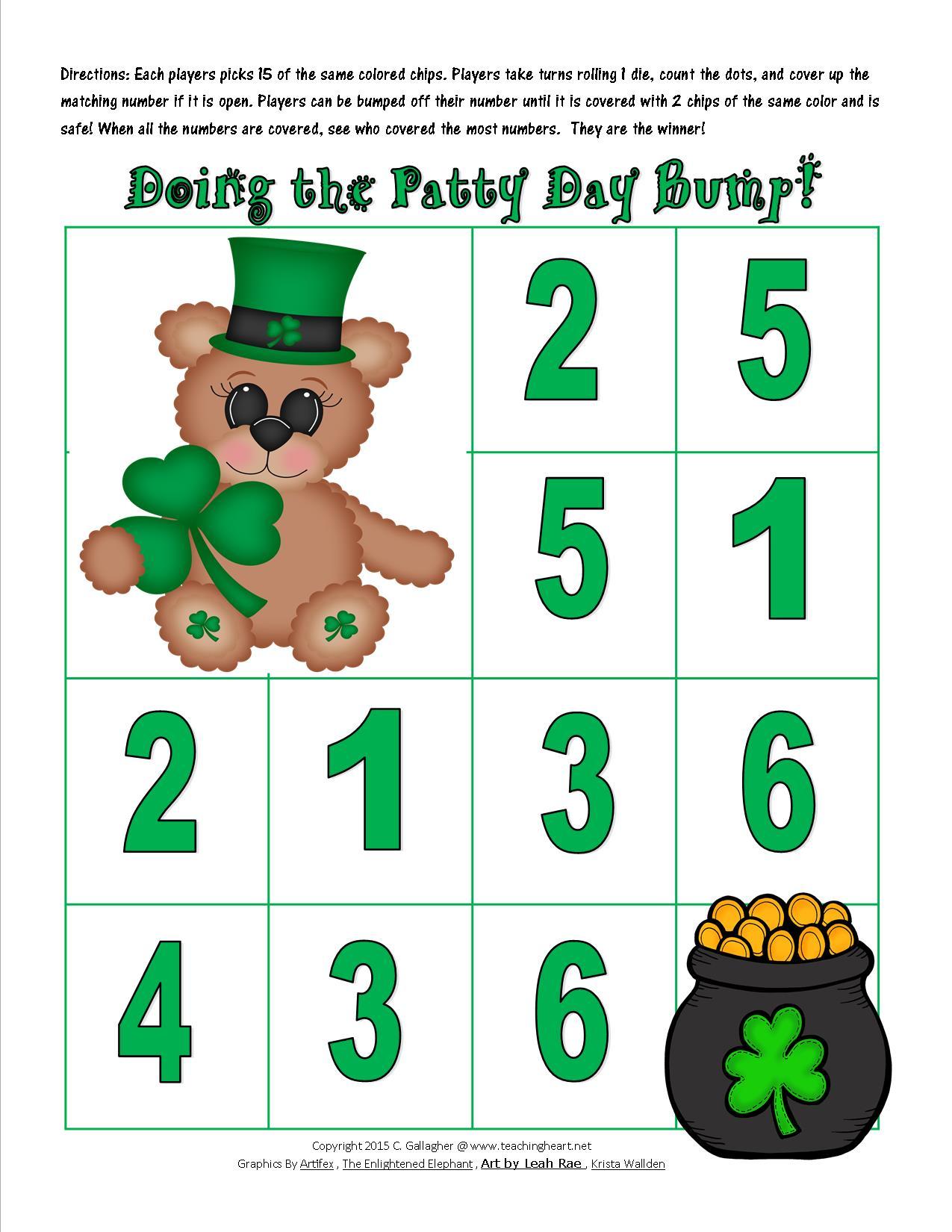Free Patty Day Fun - Teaching Heart Blog Teaching Heart Blog