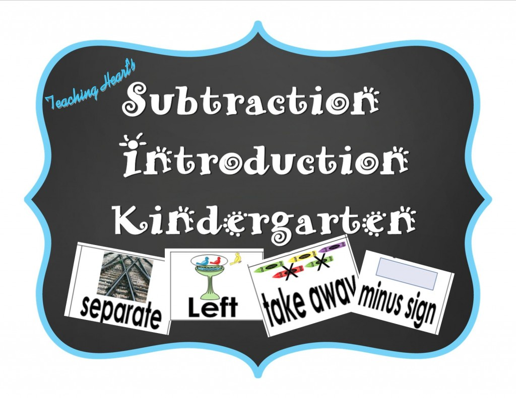 Kindergarten Subtraction Ideas Topic * Envisions