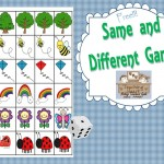 Same and Different Math Dice Game
