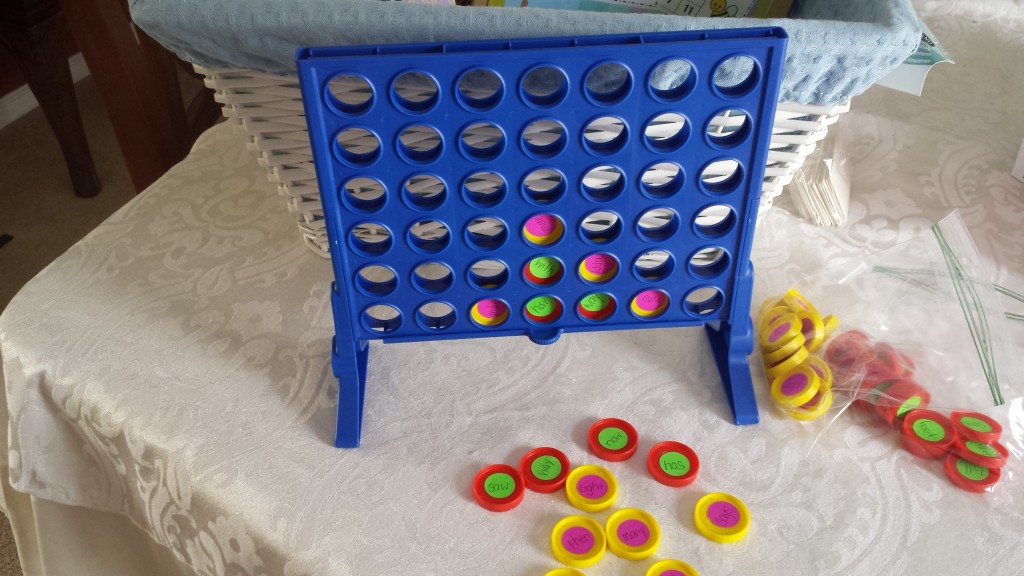 Connect Four Sight Word