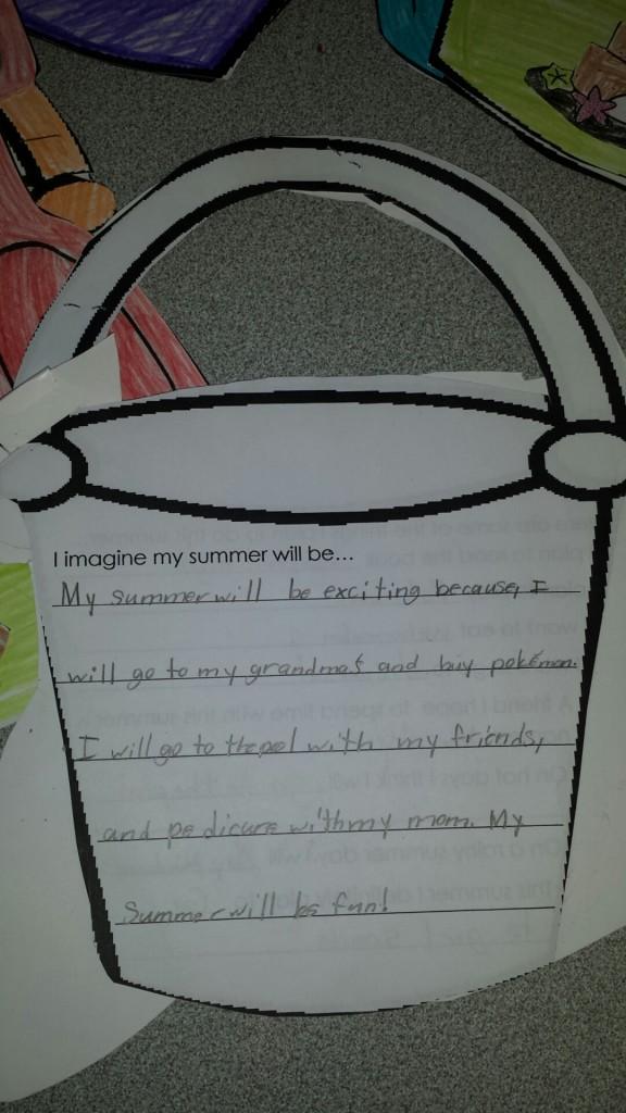 Bucket Summer Writing Activity!