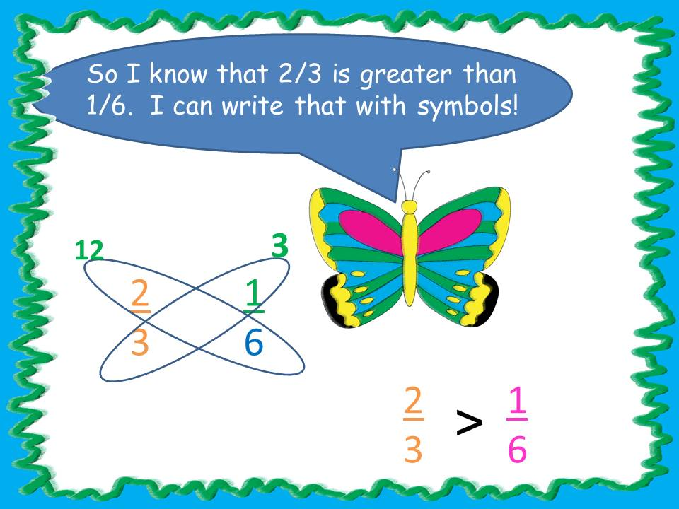 Comparing Fractions Using Butterfly Strategy2