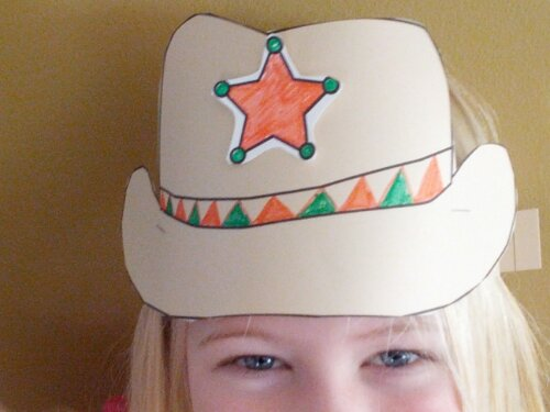 Boot Craft Template Cowboy Hat Use These Patterns To Create A Paper Display And The Kids Can Wear Home