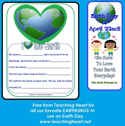 Earth Day Printables Lessons Poems Ideas Unit theme