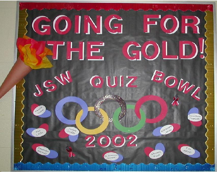 Going For The Gold Bulletin Board